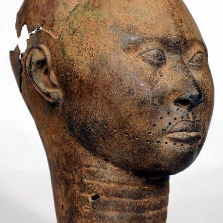 Yoruba-Art-Rustic-Brass-Head